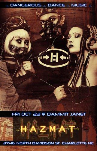 End: The Dj at Hazmat - Flyer front