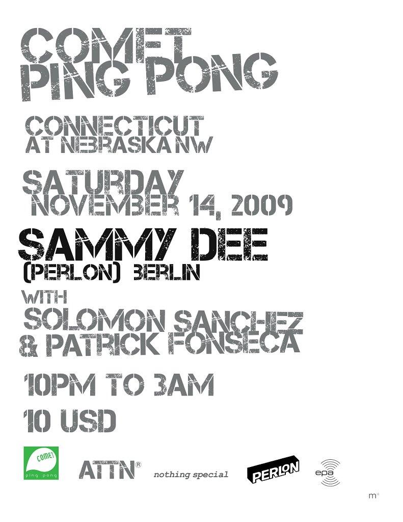 Sammy Dee (Perlon) - Flyer front