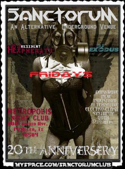 End: The Dj at Club Sanctorum - Flyer front