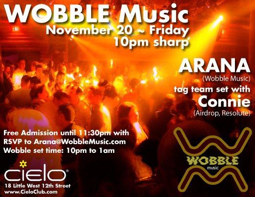 Wobble: Connie V. Arana - Flyer front