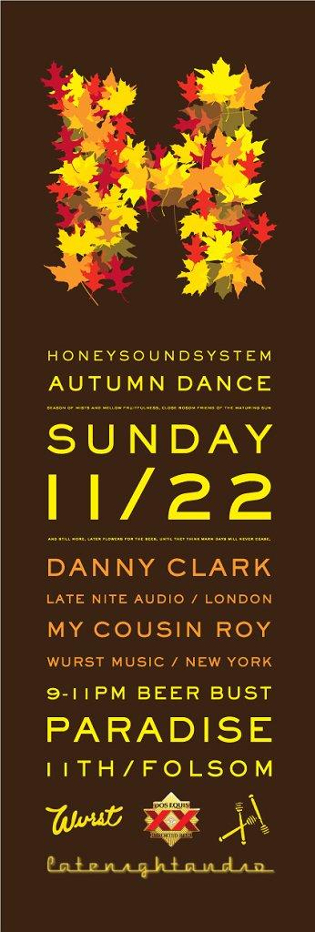 Honeysoundsystem Autumn Dance - Flyer front