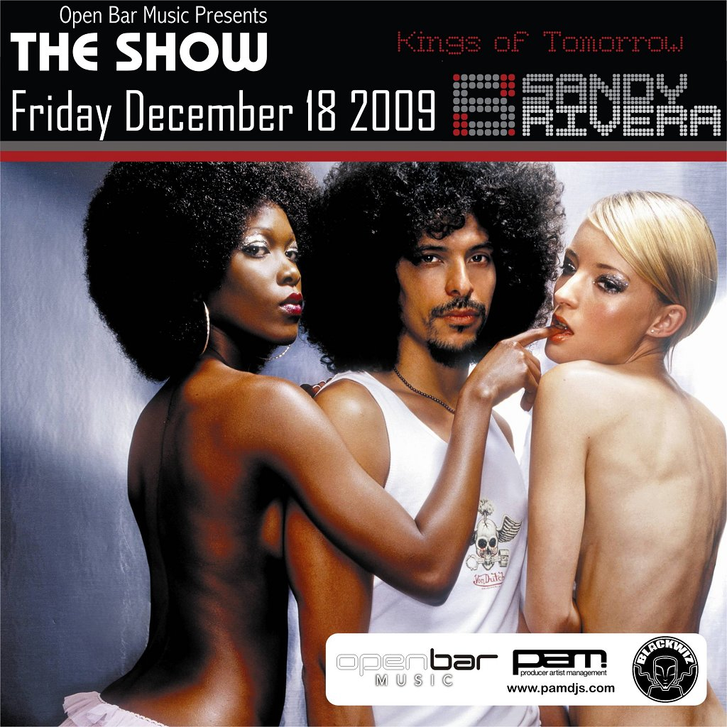 Open Bar presents The Show - Flyer back