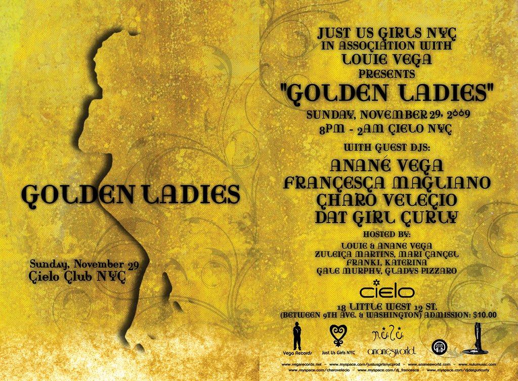 Golden Ladies - Flyer front