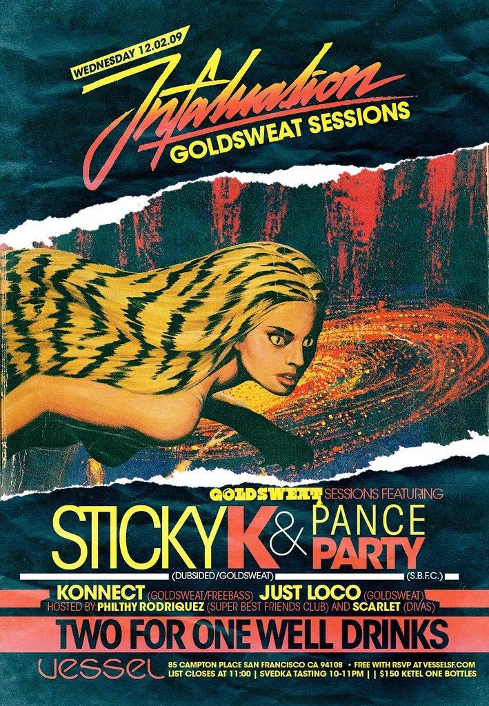 Infatuation feat Sticky K, Pance Party - Flyer front
