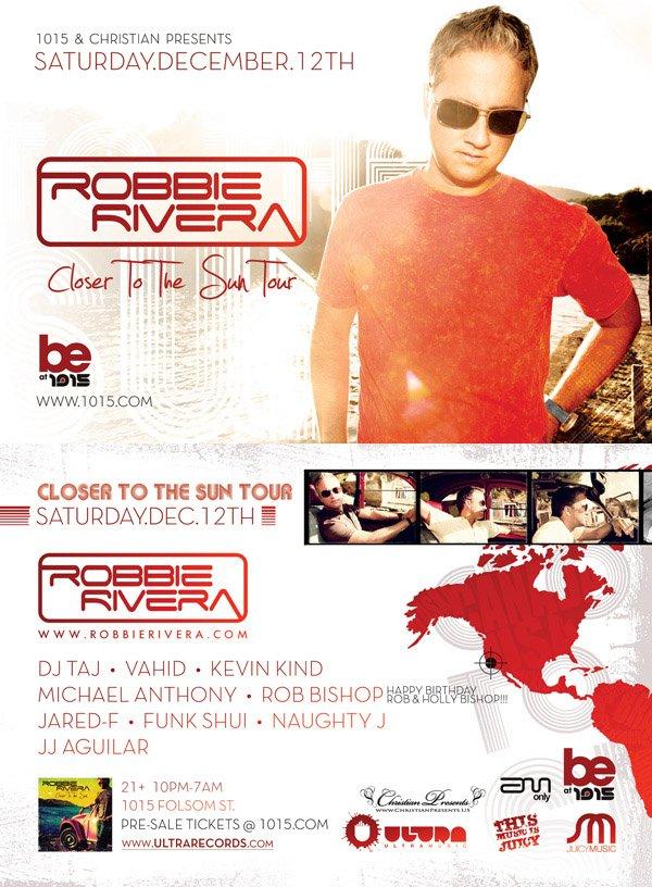 Robbie Rivera - Flyer front