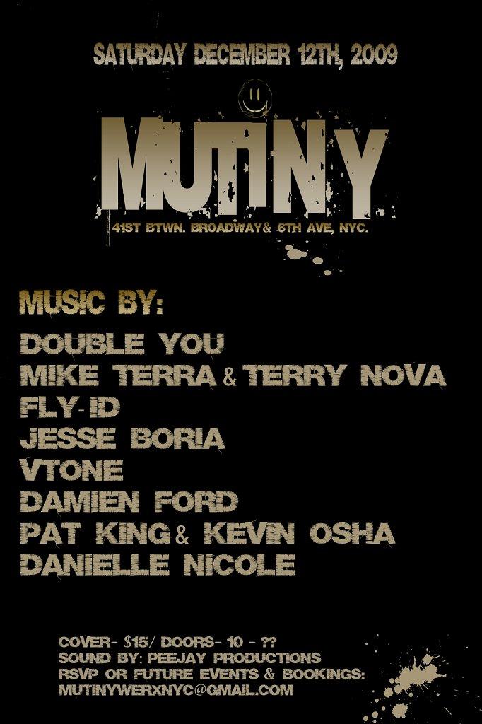 Mutiny Warehouse Party - Flyer back