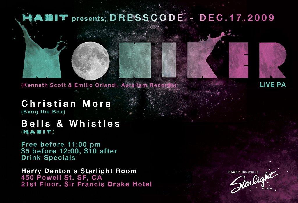 Dresscode feat Moniker Live Pa - Flyer back