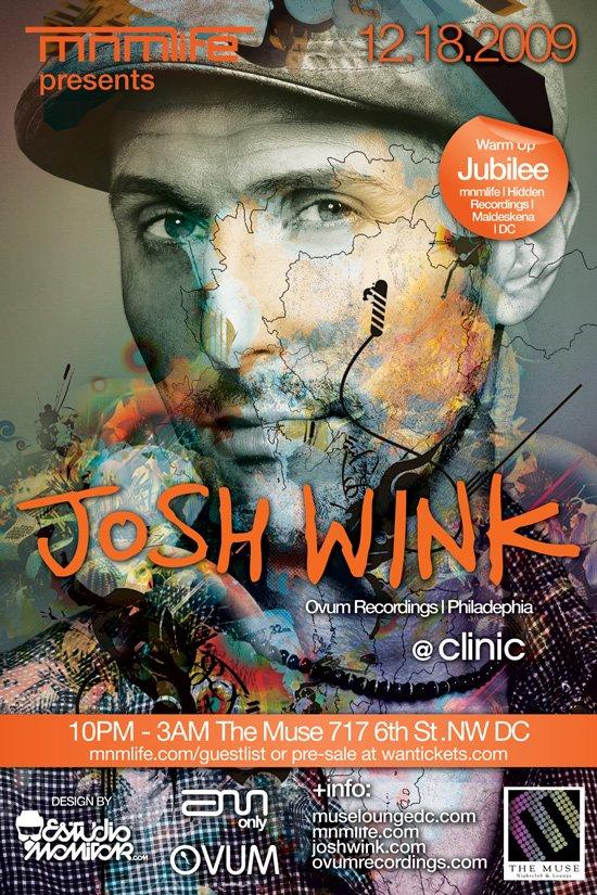 Mnmlife presents Josh Wink with Jubilee - Flyer front
