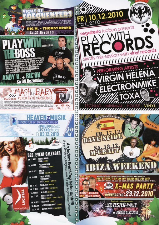 Play with Records - Flyer front
