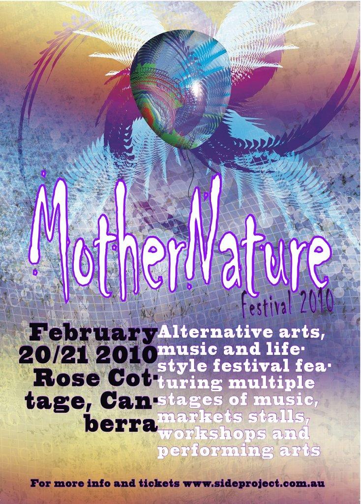 Mothernature Festival - Flyer front