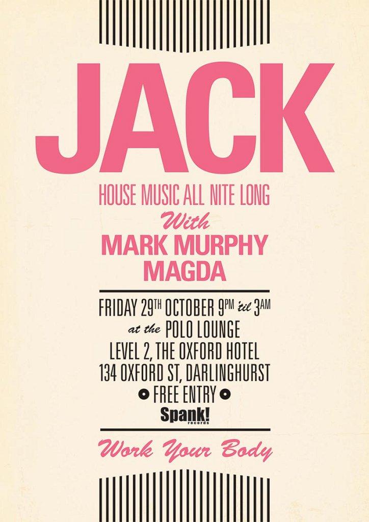 Jack October - Flyer front