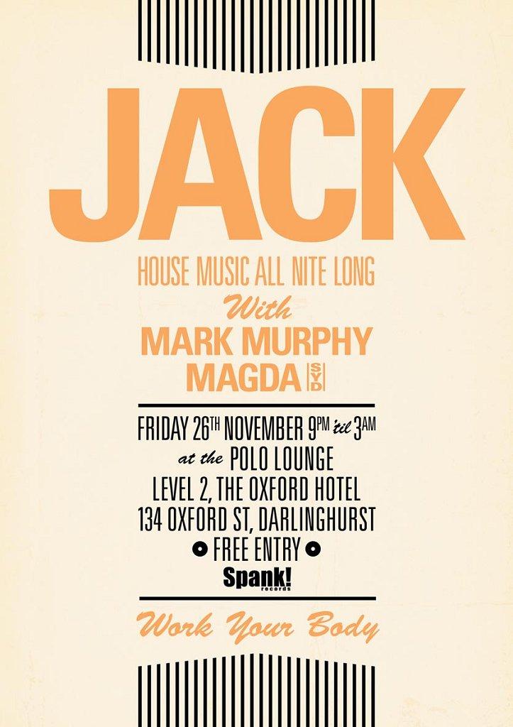 Jack November - Flyer front