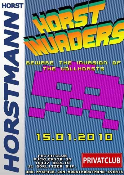 Horst Invaders - Flyer front