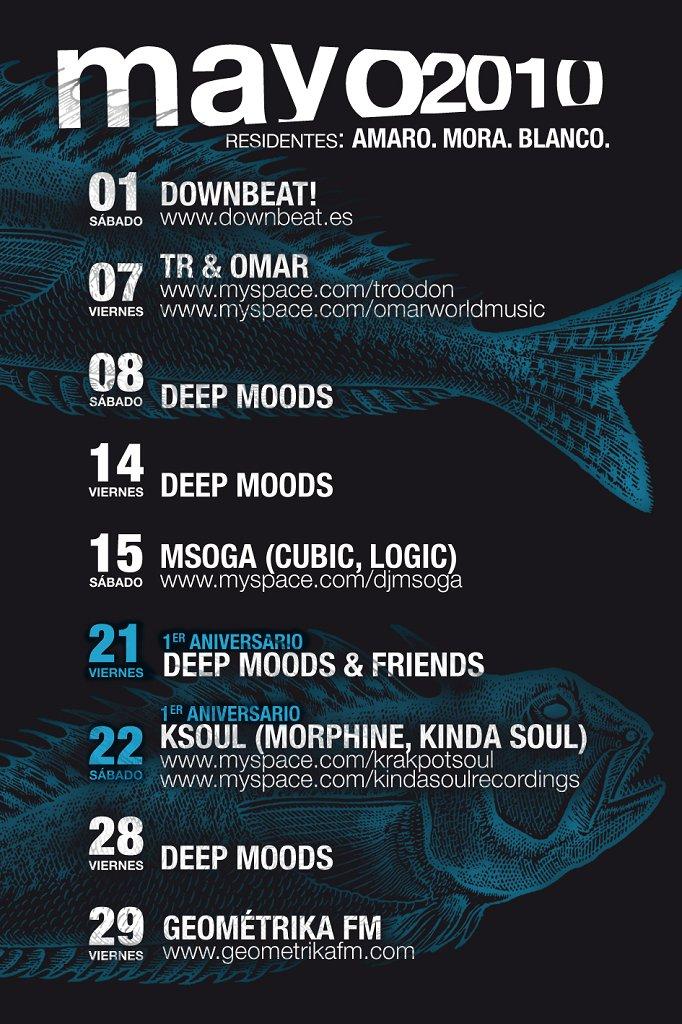 Anniversary! Deep Moods & Friends - Flyer front