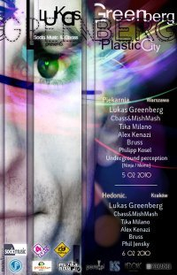 Plastic City with Lukas Greenberg - Flyer front