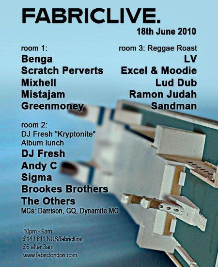 Fabriclive: DJ Fresh 'Kryptonite' Album Launch - Flyer front