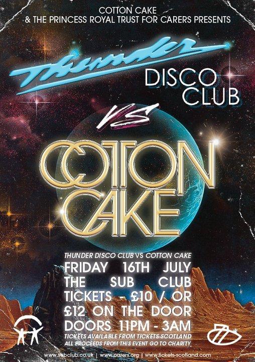 Cotton Cake vs Thunder Disco Club - Flyer front