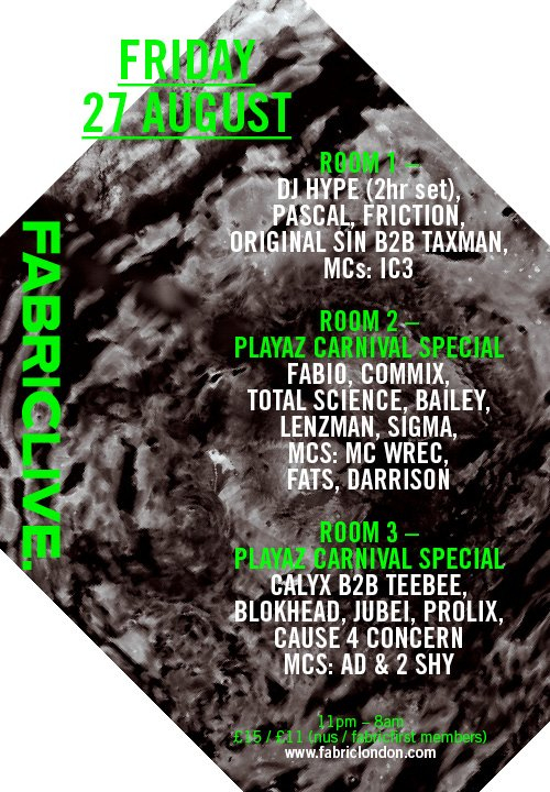 Fabriclive: Playaz Carnival Special - Flyer front