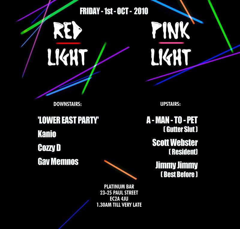 Redlight Afterhours - Flyer front