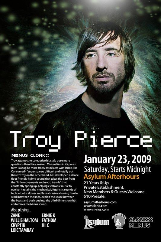 Troy Pierce - Flyer front
