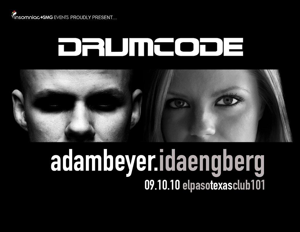 Drumcode with Adam Beyer & Ida Engberg - Flyer front