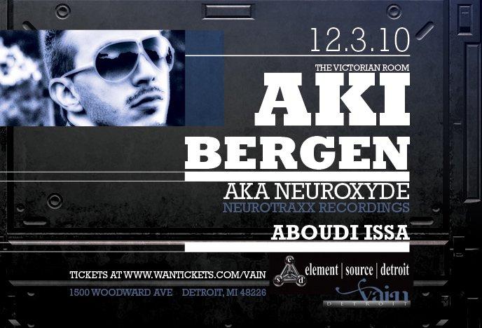 Aki Bergen Aka Neuroxyde - Flyer front