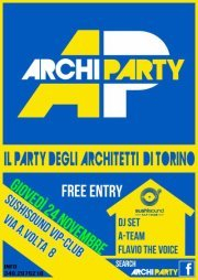Archiparty - Flyer front