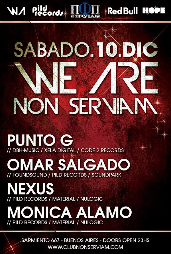 Punto G - Omar Salgado - Nexus - Monica Alamo At We Are - Flyer front