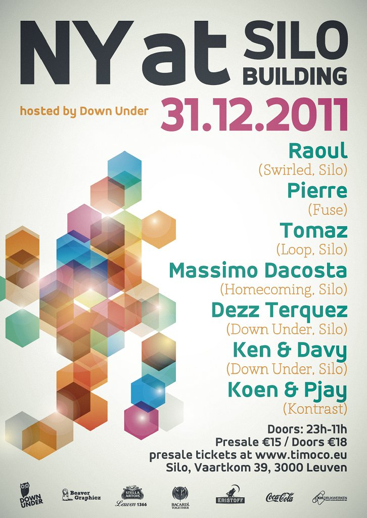 New Year At Silo - Flyer front