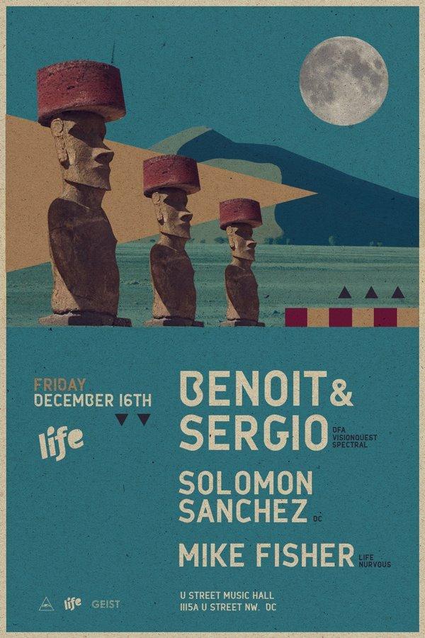 Life presents Benoit & Sergio - Flyer front