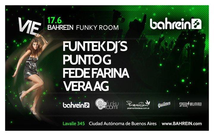 Vera Ag, Funtek Djs, Punto G & Fede Farina At Funky Room Bahrein - Flyer front