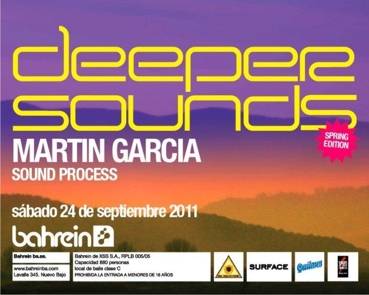 Martin Garcia - Sound Process - Deeper Sounds Spring Edition - Flyer front