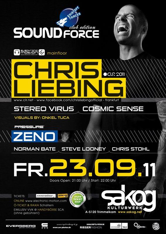 'soundforce' With: Chris Liebing - Flyer back
