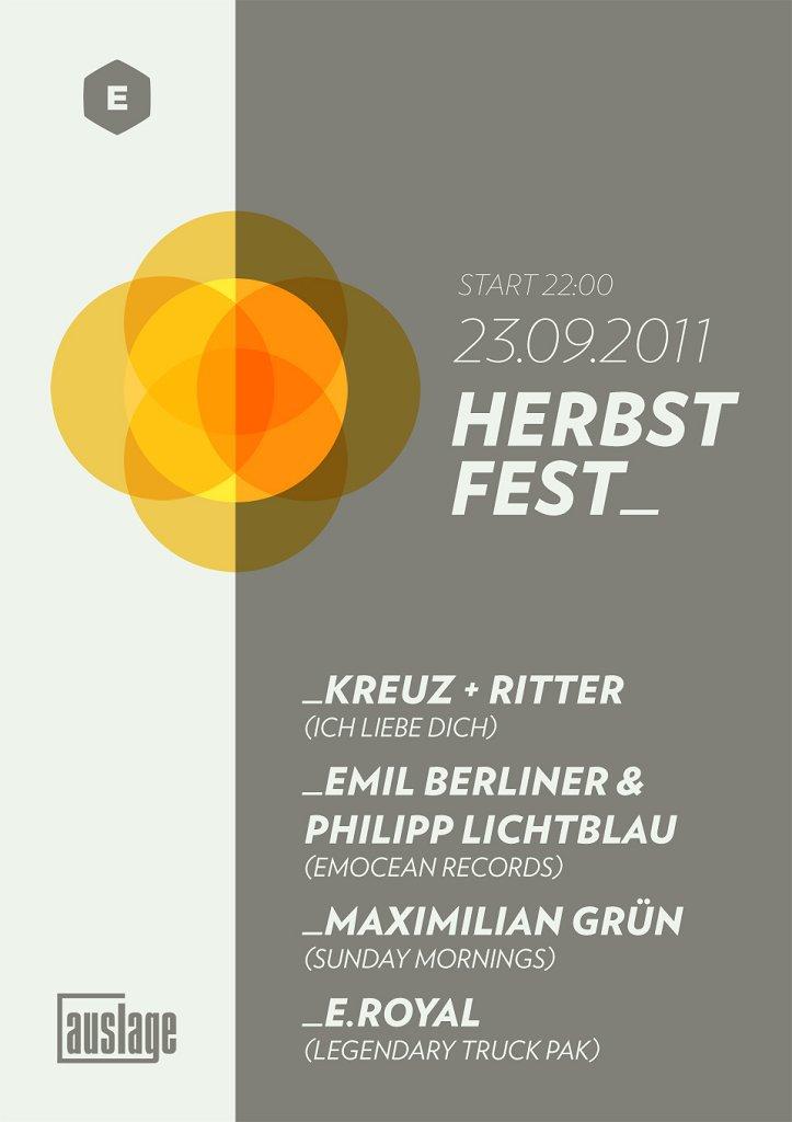 Auslage Herbstfest - Flyer front
