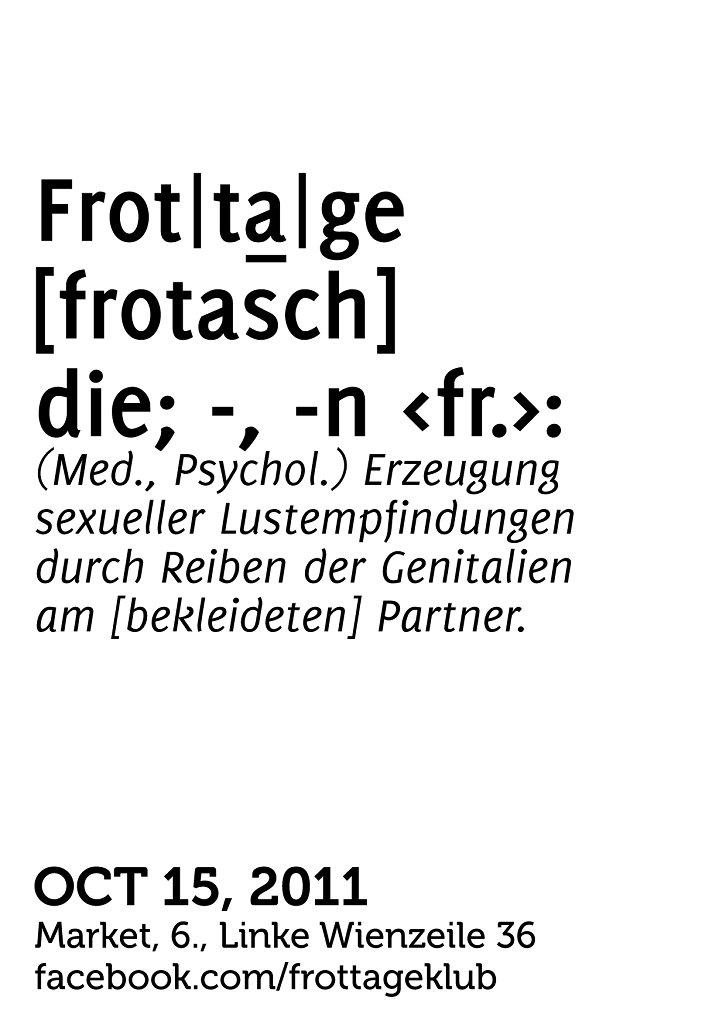 Frottage Klub feat Skatebård - Flyer back