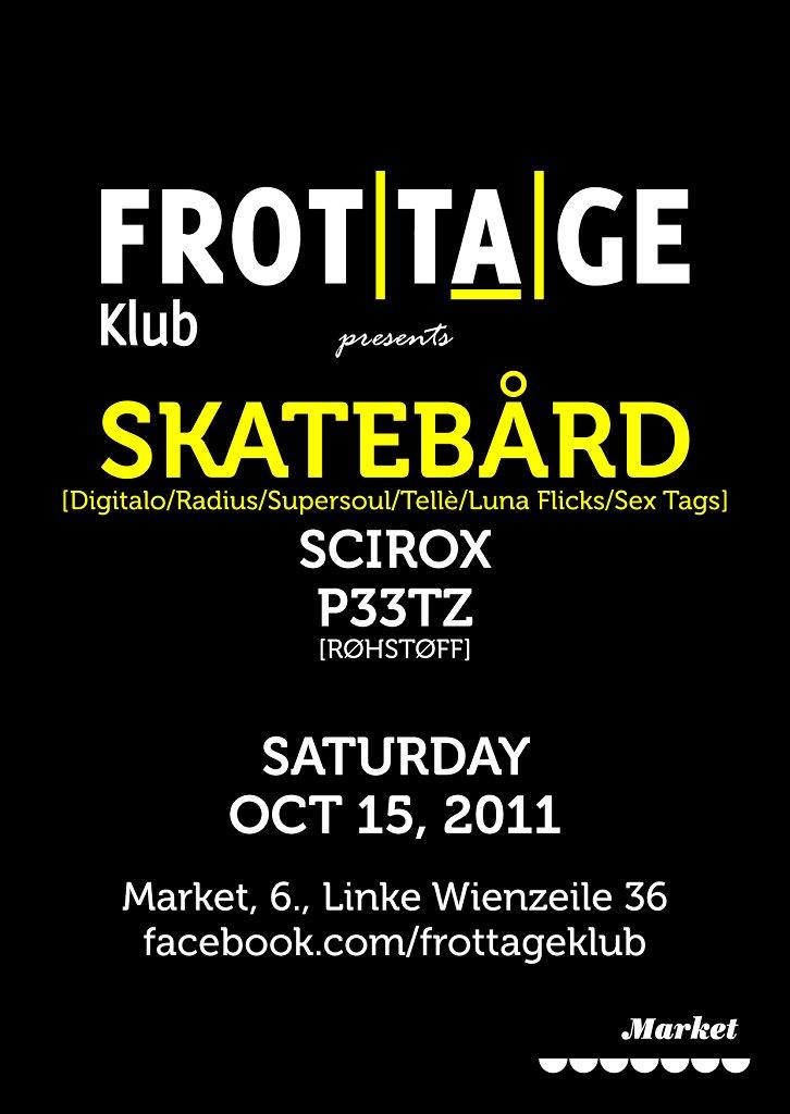 Frottage Klub feat Skatebård - Flyer front