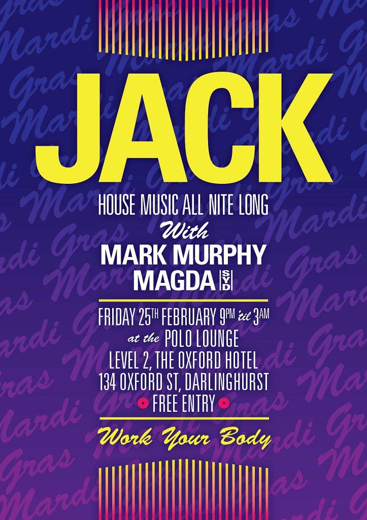 Jack February - Flyer front