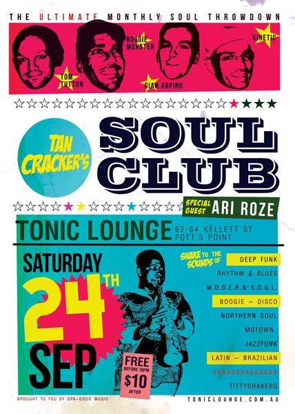Tan Cracker's Soul Club - Flyer front