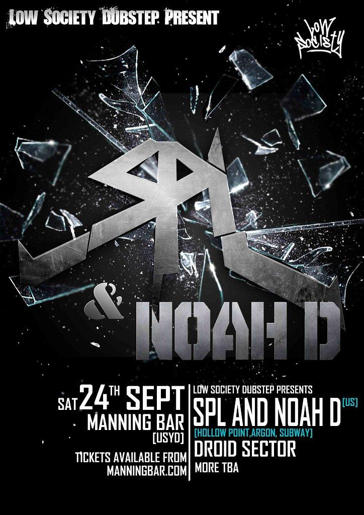 Low Society Dubstep presents: Spl & Noah D - Flyer front