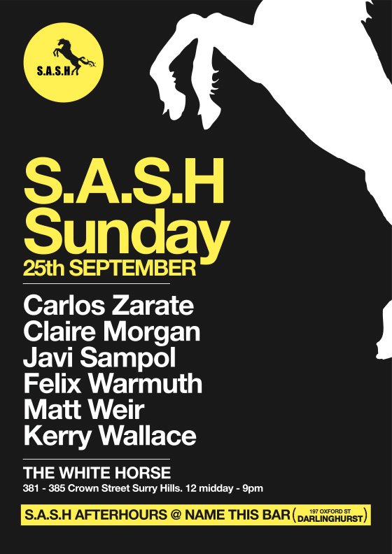 S.A.S.H - Flyer front