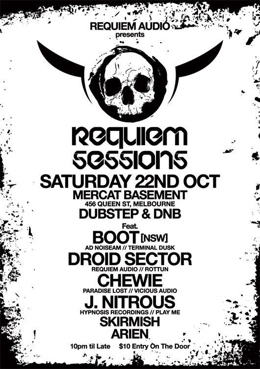 Requiem Sessions - Flyer front