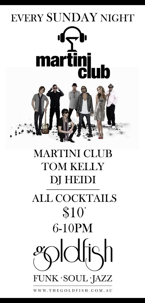 Goldfish presents The Martini Club - Flyer front