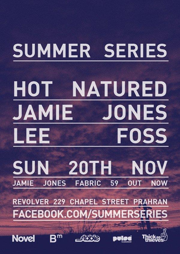 Summer Series with Hot Natured (Jamie Jones & Lee Foss) - Flyer front