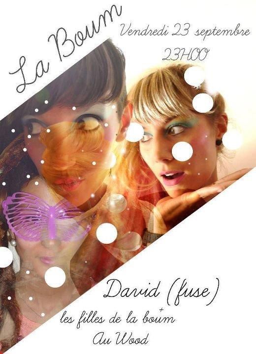 La Boum Avec David - Flyer front