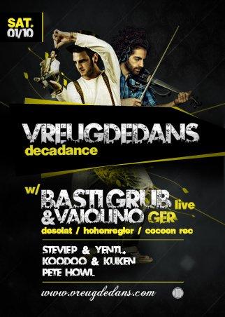 Vreugdedans with Basti Grub & Vaiolino (Live) - Flyer front