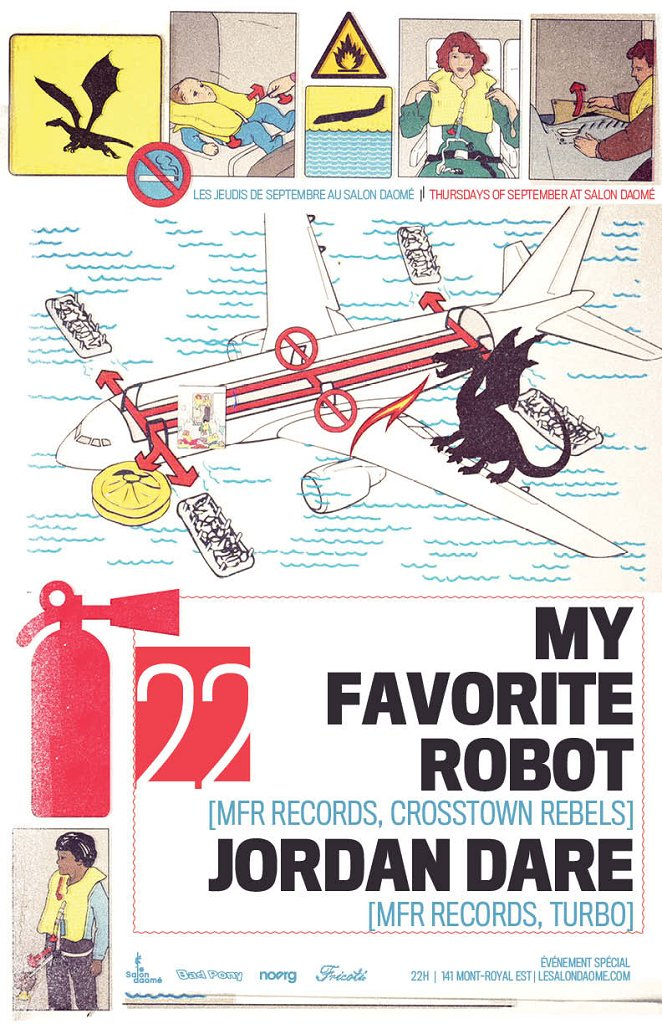 My Favorite Robot Records - Flyer front