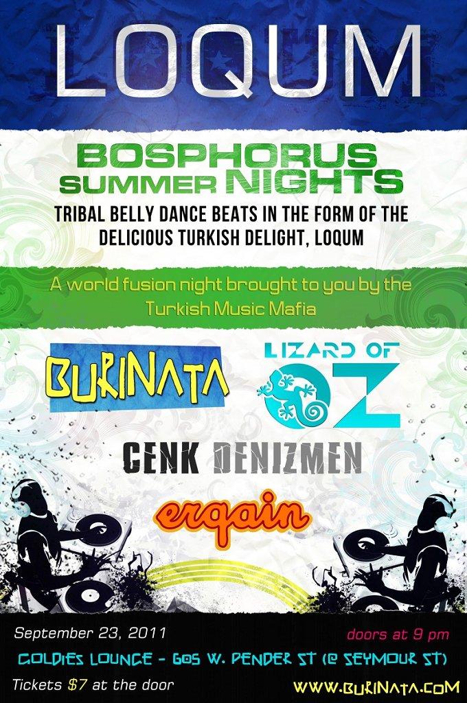 : Loqum: Bosphorus Summer Nights - Flyer front