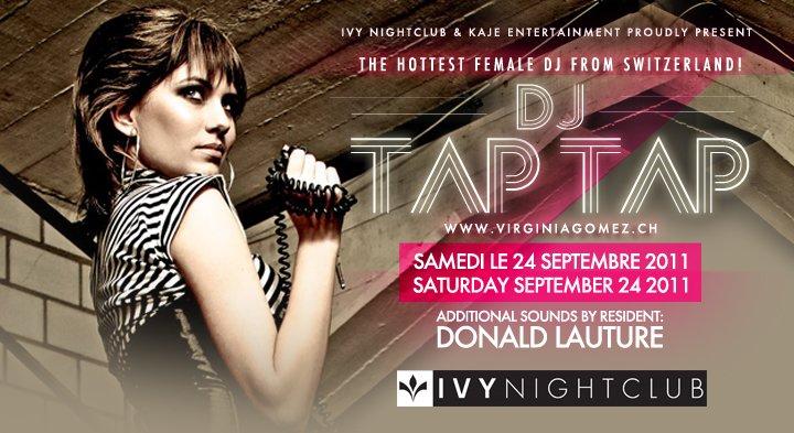 Dj Tap Tap Live - Flyer front