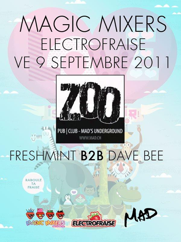 Magic Mixers At Le Zoo - Flyer front