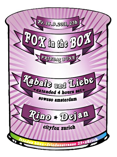 Fox In The Box - Flyer front